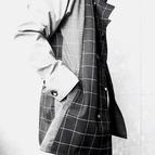 Warp Collar Coat